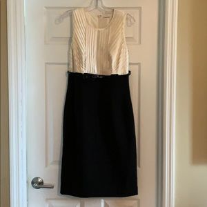 Calvin Klein cream/black sleeveless shift dress, 6